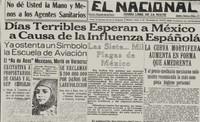 """Hacia la segunda mitad del mes de octubre de 1918, la llamada """"gripe española""""-en casos extremos- mataba en 24 horas a quienes la padecieran"""